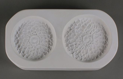 LF158 ZINNIAS TWO SMALL FRIT GLASS MOLD