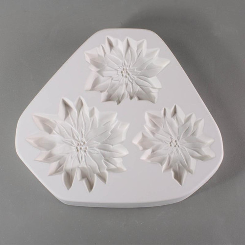 LF166 POINSETTIA ORNAMENTS FRIT GLASS MOLD