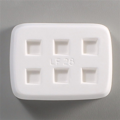 LF28 JEWELRY MINI SQUARES FRIT GLASS MOLD