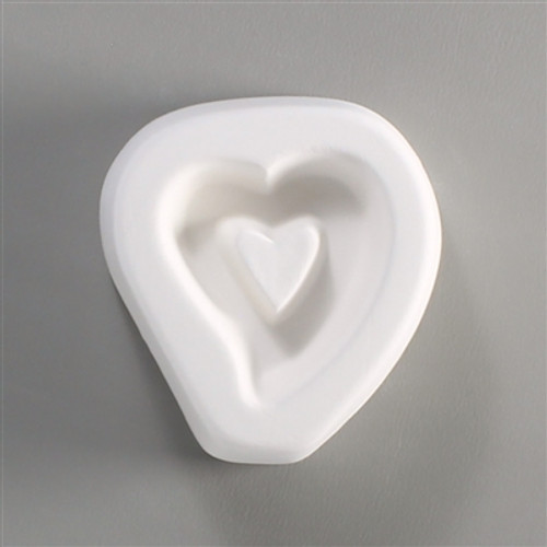 LF68 HOLLOW HEART HOLEY CABOCHON GLASS MOLD