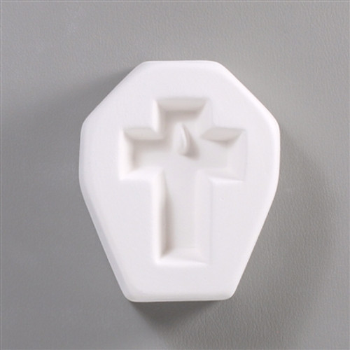LF78 PETITE HOLEY CROSS GLASS FRIT MOLD
