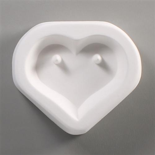 LF84 HOLEY HEART CHOKER GLASS FRIT MOLD