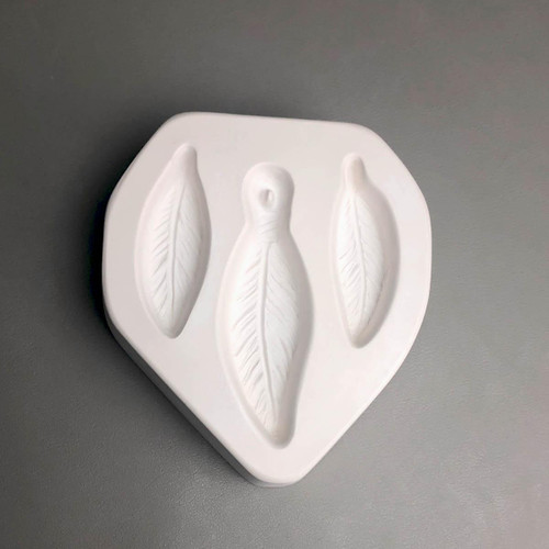 LF195 Feather Trio Frit Glass Mold