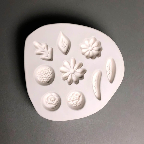 LF201 Small Flowers Leaves Glass Mold