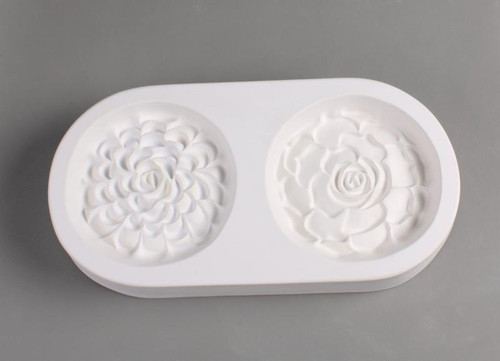LF171 Two Succulent Frit Glass Mold