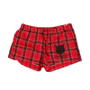 Flannel Red Shorts