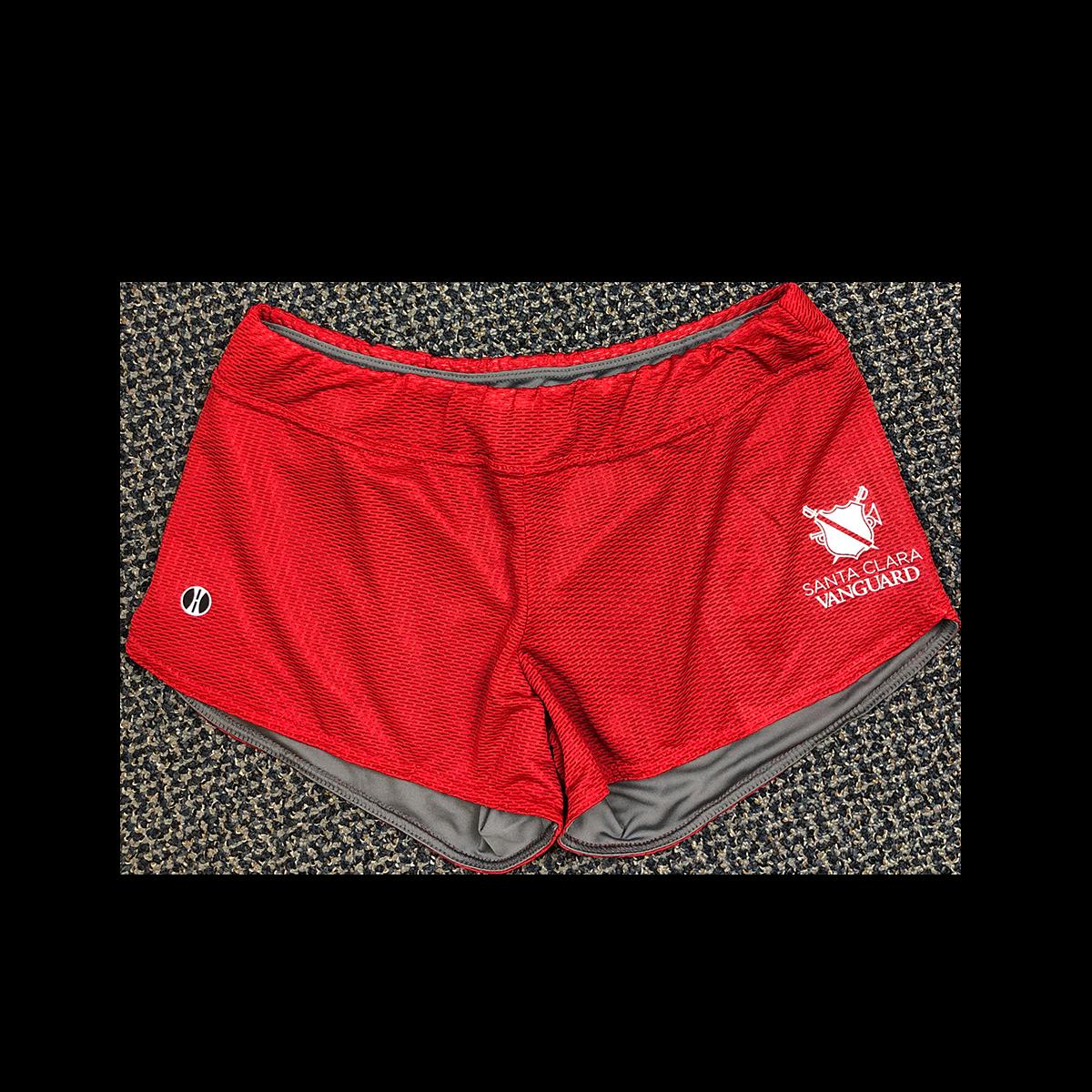 SCV Ladies Mesh Shorts - Red