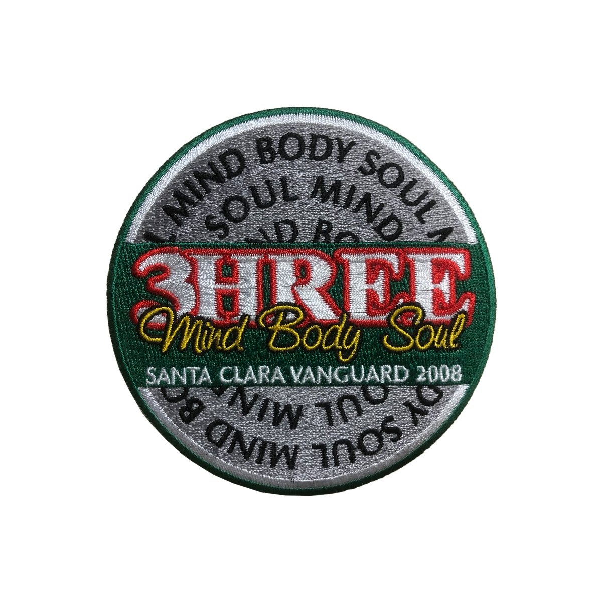 2008 3HREE Mind Body Soul Show Patch