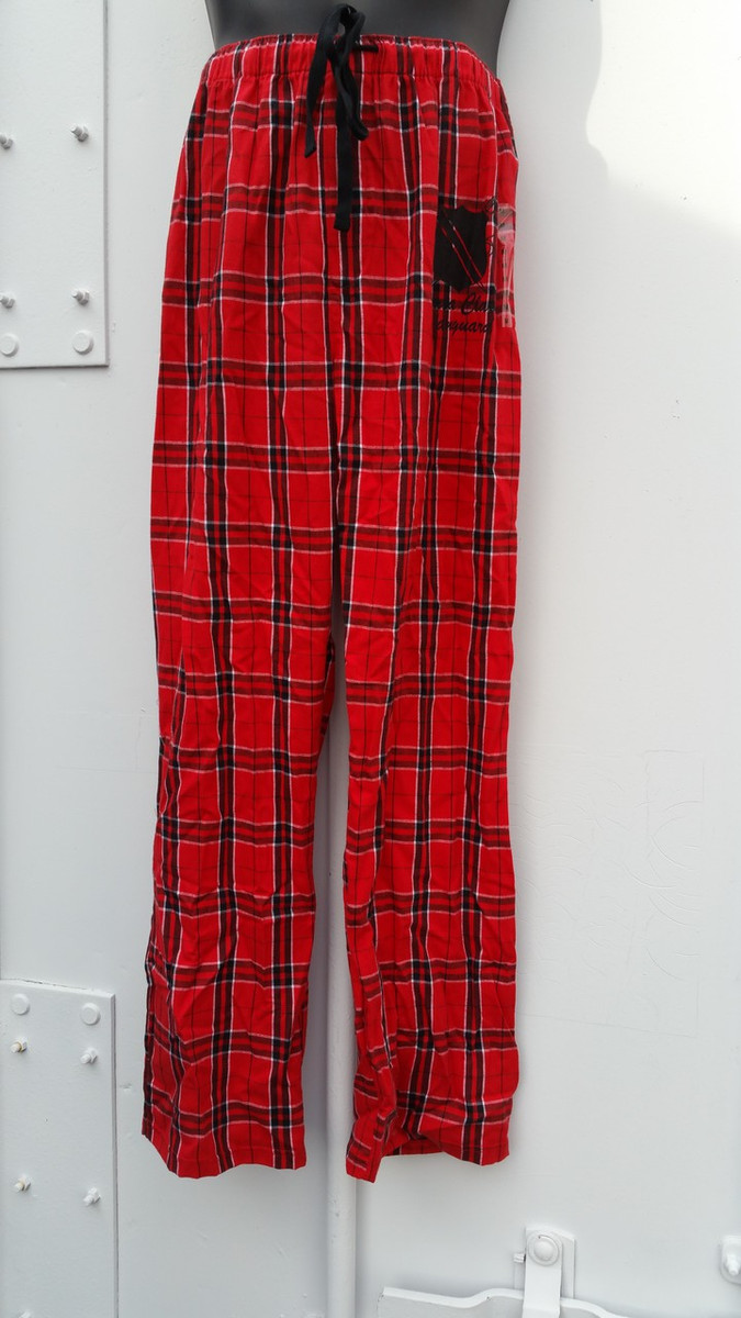 SCV Red Plaid Flannel Bus Pants