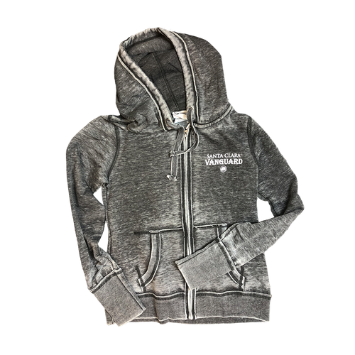 SCV Ladies Full Zip Distressed Shield