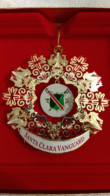 SCV Christmas Ornament Dangle Gold Shield