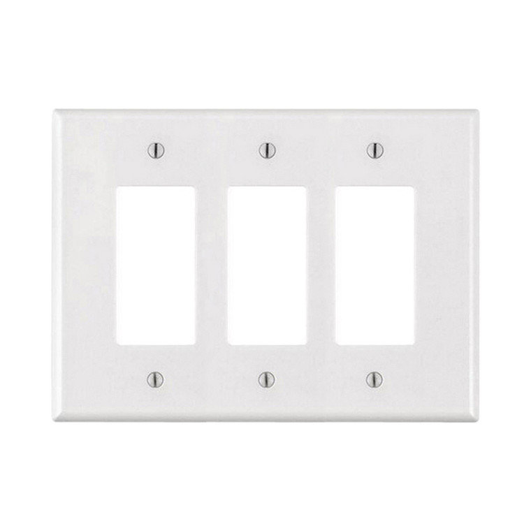 3-Gang Decorator Wall Plate, Oversize Large