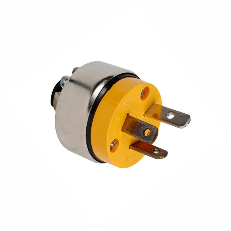 Vinyl Armored Plug, 3-Pole 3-Wire Non-Grounding, 20A-125V/250V, NEMA 10-20P