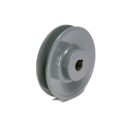 """Packard PBK3412 3.55"""" OD 1/2"""" Bore Single Groove Pulley"""