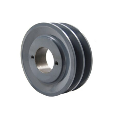 """Packard P2AK54H 5.25"""" OD H-Bushing Bore Two Groove Pulley"""