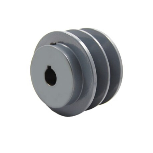 """Packard P2BK34118 3.55"""" OD 1-1/8"""" Bore Two Groove Pulley"""
