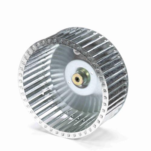"""Fasco 1-6080 9-31/32"""" Diameter 4"""" Width 1/2"""" Bore CCW Single Inlet Blower Wheel"""