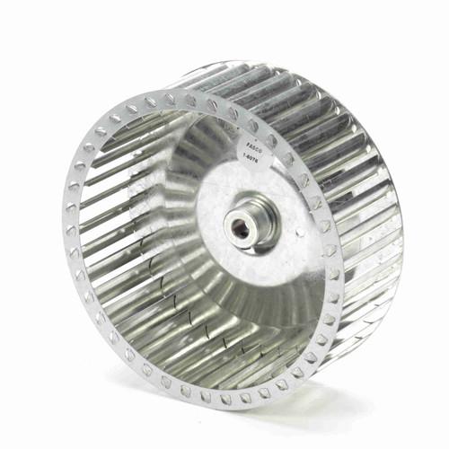 """Fasco 1-6076 8-35/64"""" Diameter 3"""" Width 1/2"""" Bore CW Single Inlet Blower Wheel"""