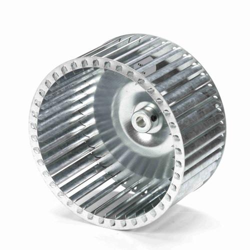 """Fasco 1-6074 8-5/64"""" Diameter 4"""" Width 1/2"""" Bore CCW Single Inlet Blower Wheel"""