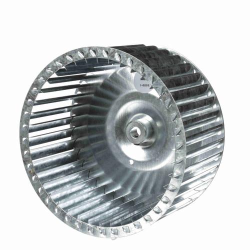 """Fasco 1-6006 8-5/64"""" Diameter 4"""" Width 1/2"""" Bore CW Single Inlet Blower Wheel"""