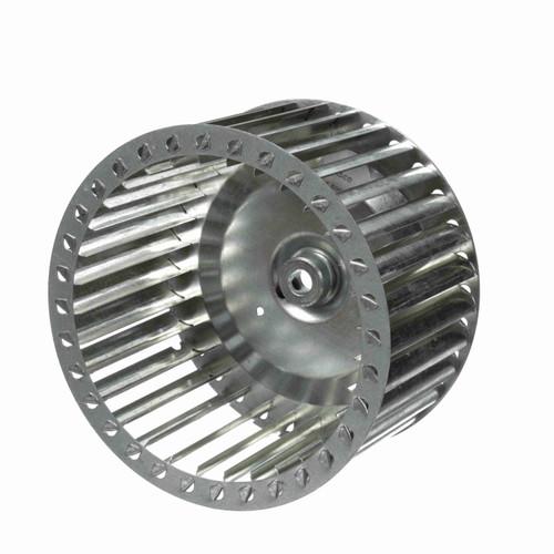 """Fasco 1-6005 7-1/8"""" Diameter 4"""" Width 1/2"""" Bore CCW Single Inlet Blower Wheel"""