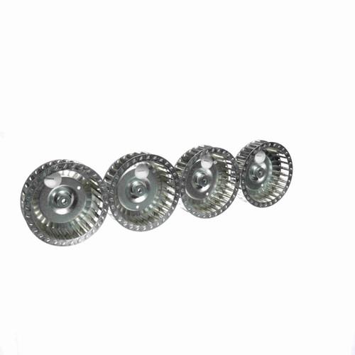 """Fasco 1-6066 7-1/8"""" Diameter 2"""" Width 5/16"""" Bore CCW Single Inlet Blower Wheel"""