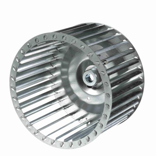 """Fasco 1-6064 6-25/64"""" Diameter 4"""" Width 1/2"""" Bore CCW Single Inlet Blower Wheel"""