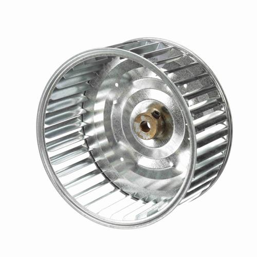 """Fasco 1-6060 6-3/16"""" Diameter 2-15/16"""" Width 3/8"""" Bore CCW Single Inlet Blower Wheel"""