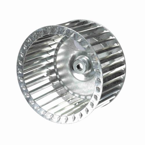 """Fasco 1-6010 6"""" Diameter 3-1/4"""" Width 1/2"""" Bore CCW Single Inlet Blower Wheel"""