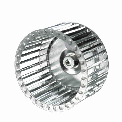 """Fasco 1-6058 6"""" Diameter 3-1/4"""" Width 1/2"""" Bore CW Single Inlet Blower Wheel"""