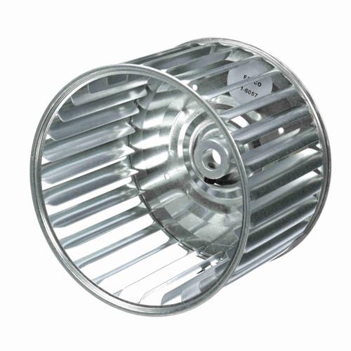 """Fasco 1-6057 5-45/64"""" Diameter 4"""" Width 1/2"""" Bore CCW Single Inlet Blower Wheel"""