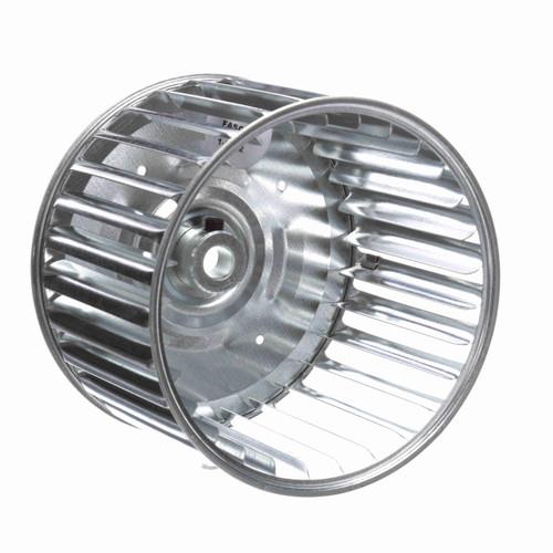 """Fasco 1-6002 5-45/64"""" Diameter 4"""" Width 1/2"""" Bore CW Single Inlet Blower Wheel"""