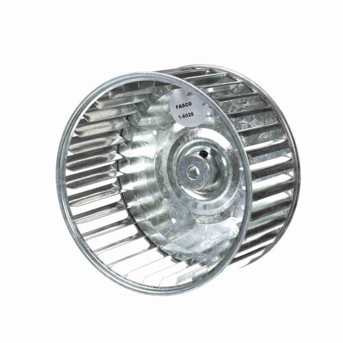 """Fasco 1-6026 5-45/64"""" Diameter 2-15/16"""" Width 5/16"""" Bore CCW Single Inlet Blower Wheel"""