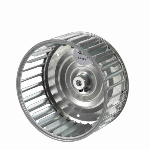 """Fasco 1-6024 5-13/64"""" Diameter 2-1/2"""" Width 5/16"""" Bore CW Single Inlet Blower Wheel"""