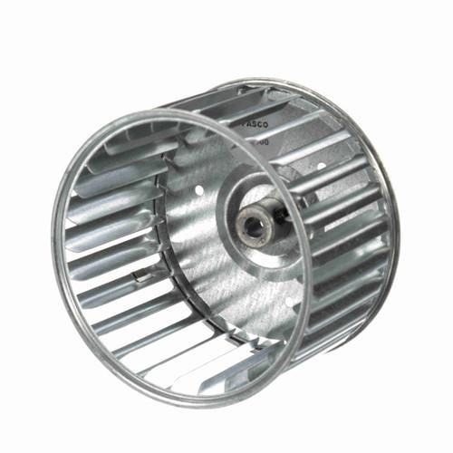 """Fasco 1-6000 4-23/32"""" Diameter 2-15/16"""" Width 5/16"""" Bore CCW Single Inlet Blower Wheel"""