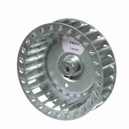"""Fasco 1-6161 4-17/32"""" Diameter 1-1/4"""" Width 5/16"""" Bore CCW Single Inlet Blower Wheel"""