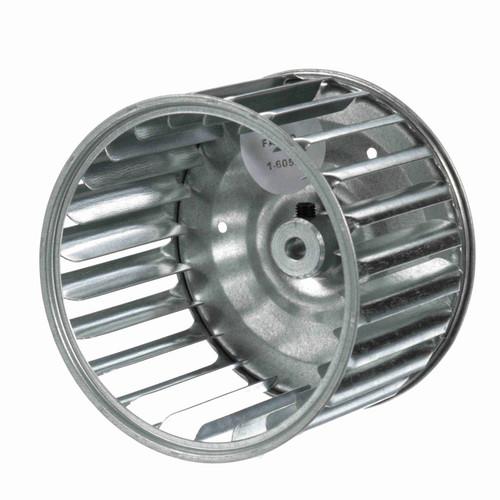 """Fasco 1-6052 4-1/4"""" Diameter 2-15/16"""" Width 1/4"""" Bore CCW Single Inlet Blower Wheel"""