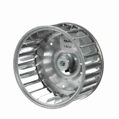 """Fasco 1-6046 4-1/4"""" Diameter 2"""" Width 1/4"""" Bore CCW Single Inlet Blower Wheel"""