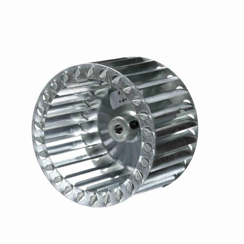 """Fasco 1-6133 4"""" Diameter 2-1/2"""" Width 1/4"""" Bore CCW Single Inlet Blower Wheel"""