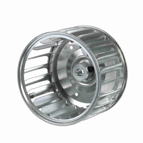 """Fasco 1-6044 3-13/16"""" Diameter 2-1/2"""" Width 5/16"""" Bore CW Single Inlet Blower Wheel"""