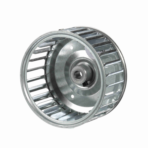 """Fasco 1-6043 3-13/16"""" Diameter 1-7/8"""" Width 5/16"""" Bore CW Single Inlet Blower Wheel"""