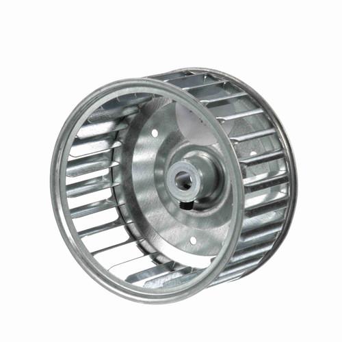 """Fasco 1-6042 3-13/16"""" Diameter 1-7/8"""" Width 5/16"""" Bore CCW Single Inlet Blower Wheel"""