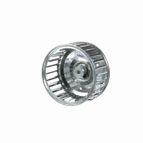 """Fasco 1-6041 3-13/16"""" Diameter 1-7/8"""" Width 1/4"""" Bore CW Single Inlet Blower Wheel"""