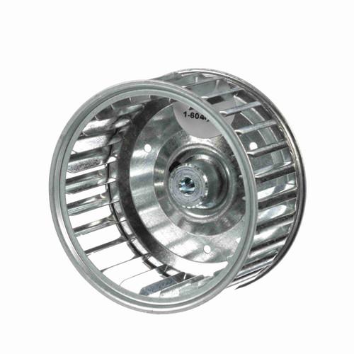"""Fasco 1-6040 3-13/16"""" Diameter 1-7/8"""" Width 1/4"""" Bore CCW Single Inlet Blower Wheel"""