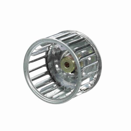 """Fasco 1-6038 3"""" Diameter 1-7/8"""" Width 1/4"""" Bore CW Single Inlet Blower Wheel"""