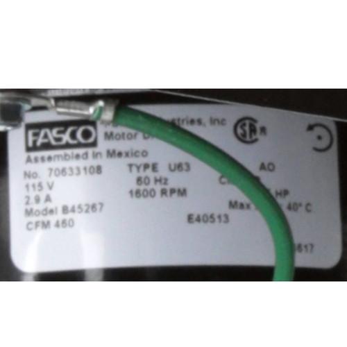 Fasco B45267 460 CFM 1600 RPM 115 Volts Centrifugal Blower