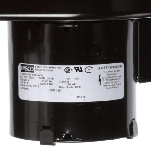 Fasco 50752-D230 135 CFM 3000 RPM 208-240 Volts Centrifugal Blower