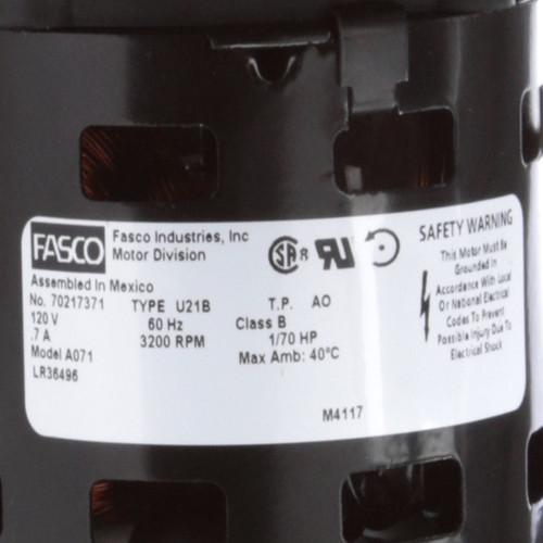Fasco A071 71 CFM 3200 RPM 120 Volts Centrifugal Blower