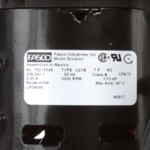 Fasco A069 3000 RPM 208-240 Volts OEM Replacement Draft Inducer Blower