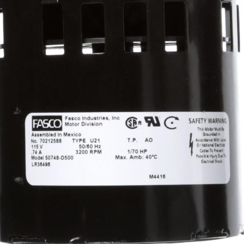 Fasco 50748-D500 65 CFM 3200 RPM 115 Volts Centrifugal Blower